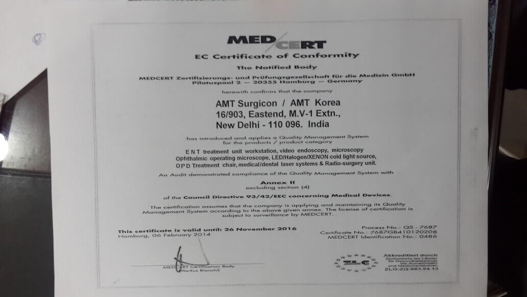 Medcert gefälschtes Zertifikat